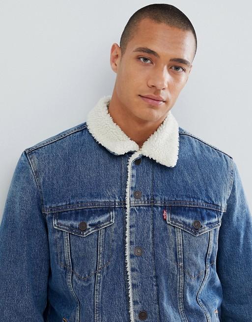 Giubbino jeans con pellicciotto Levi's