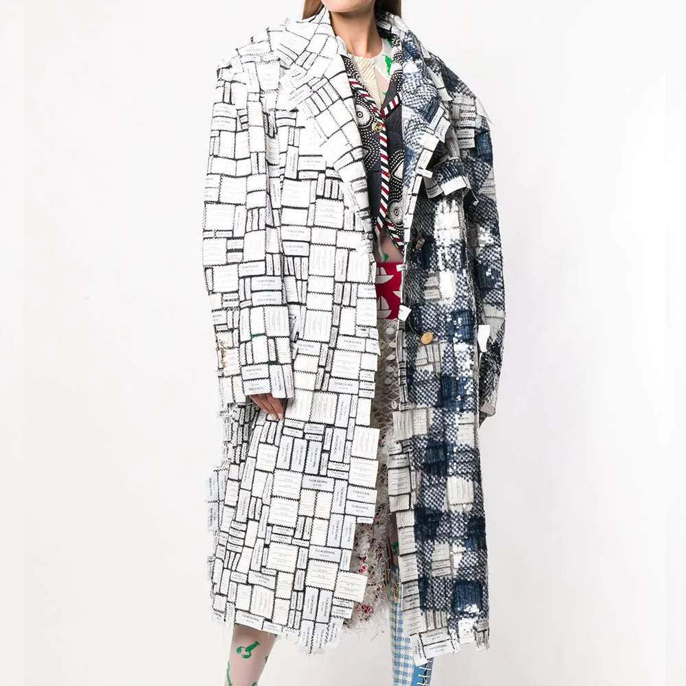 Cappotto Chesterfield Donna Thom Browne